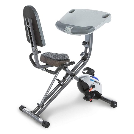 Exerpeutic Exerwork 1000 Adjustable Desk Folding Exercise Bike 1