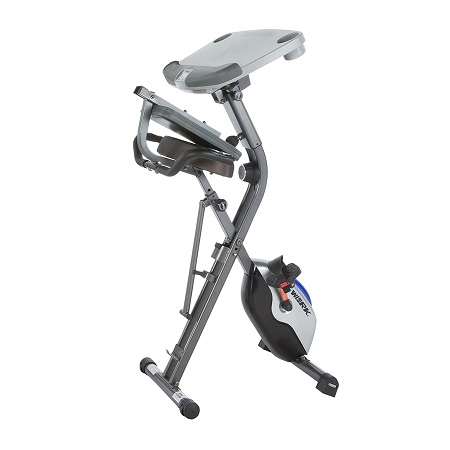 Exerpeutic Exerwork 1000 Adjustable Desk Folding Exercise Bike 2